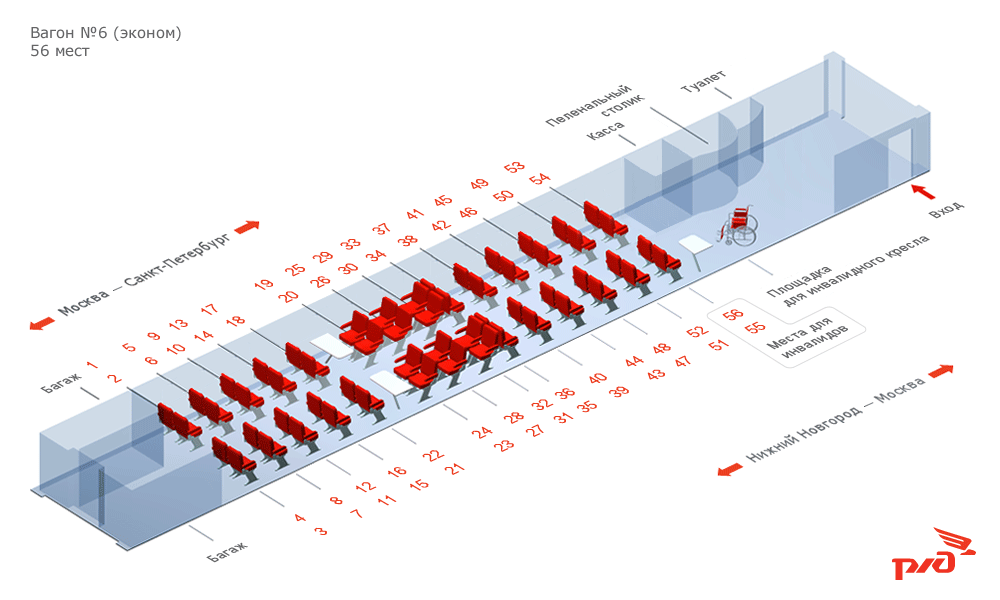 конце каждоговагона поезда